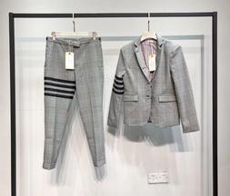 THOM BROWNE Mens Suit Slim Fit Houndstooth suit wool suit ja