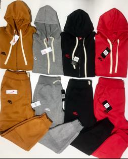 NIKE MENS SWEATSUIT ZIP UP COMPLETE SET HOODIE AND JOGGERS F