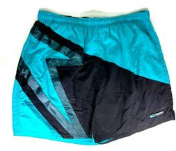 Mens Speedo Swim Suit Trunks Shorts XL Turquoise and Black N