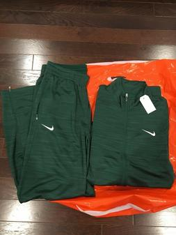**NIKE MENS  TEAM PLAYER STAFF WARMUP 2 PIECE SUIT Green 818