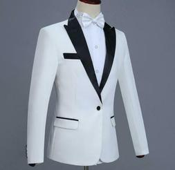 Mens Tuxedos Jackets + Pants Slim Fit Business Formal Groom