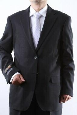 MENS TWO BUTTON SUPERIOR 100 BLACK DRESS SUIT BIG & TALL, SM