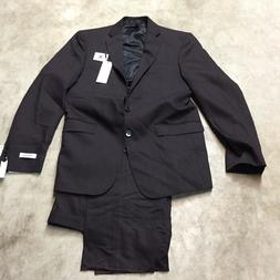 mens calvin klein X extreme slim fit 2 piece suit wine 40 re