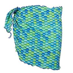 Fin Fun Mermaid Girls Sarong Cover Up - Aussie Green