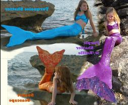 Mermaid Tail with Monofin US MADE! Mermaid Tail or Top Swimm