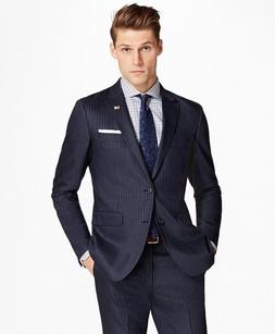 Brooks Brothers Milano Fit Stripe 1818 Suit - 40R