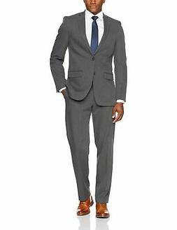 Van Heusen Men's Modern Slim Fit Flex Stretch Suit Light Gra