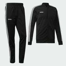 Adidas MTS 3 Stripes Track Suit Jacket Pants Black White 3 S