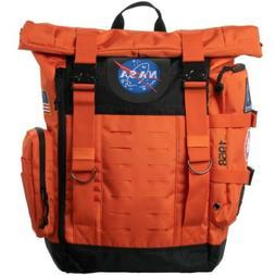 NASA Orange Flight Suit Rolltop Backpack with Patches