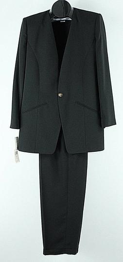 Chaus NEW $122 10 x 30 Black Polyester Acetate Pant Suit H09