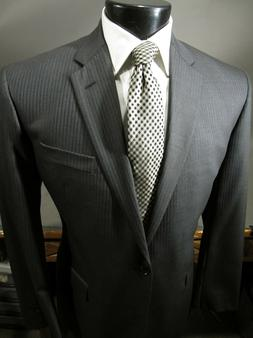 New $1300 Brooks Brothers Milano Suit 46 L Charcoal Gray Sax