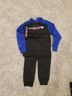 New 2 piece Kids Authentic Champion Jogging Suit  paints Hoo