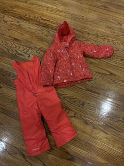 New Columbia 3t Boys Girls Snow Suit  Red