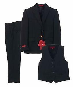 GIOBERTI NEW Black Big Boy's Size 18 Formal 3 Piece Vest Sui