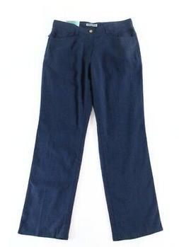 Cubavera NEW Blue Mens Size 38X32 Button Zip-Fly Linen Blend