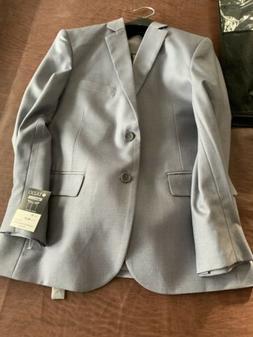 New Tazio Boys 3 Piece Classic Fit Suit Light Gray Size 10