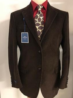 DOCKERS *NEW*  BROWN CORDUROY 40R Cotton Blazer Sport Suit C