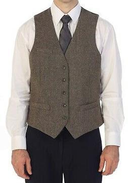 Gioberti NEW Brown Mens Size Medium M Five Button Tweed Suit