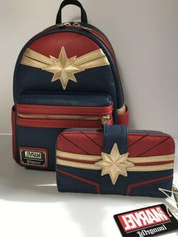 NEW Loungefly Disney MARVEL Captain Marvel Suit Mini Backpac
