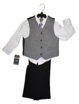 NEW Dockers kids 4-piece formal suit set- purple/black/gray
