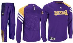 New Adidas Los Angeles LA Lakers On Court Basketball Warm Up