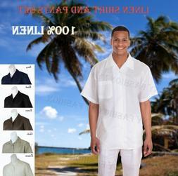 New Men's 2 PC Luxury Linen Set Casual/ Walking Suit Set M28