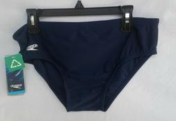 New Men's Speedo ML Solid Brief Swim Suit Navy