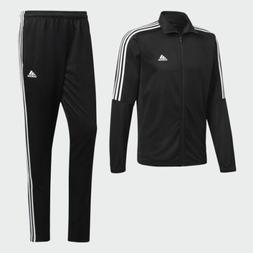 New Adidas men's Tiro Track Suit 3 stripe black white jacket