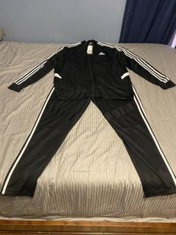New Adidas Men's Tiro Track Suit Set 3 Stripe Black/White Cl