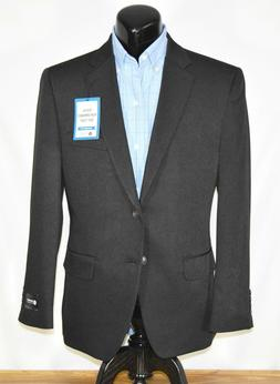 New Haggar Tailored Fit Performance Suit Jacket Gray Pinstri