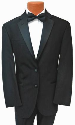 New Mens Black Calvin Klein Tuxedo Jacket with Flat Front Pa