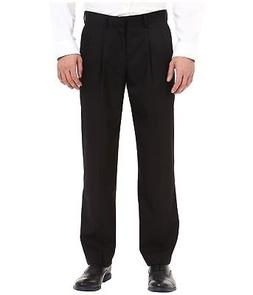 NEW Mens DOCKERS Dress Pleated Pants Suit Trousers BLACK W 3