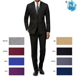 New Men's Formal Slim Fit 2 piece Suit two button solid co