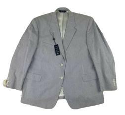 New Stafford Mens Seersucker Suit Jacket Sport Coat Blue Str