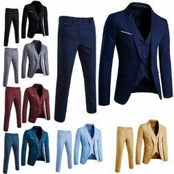 New Men's Suit Slim Suit Blazer Business Wedding Party Jac