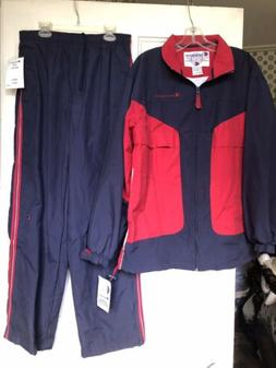 New Mens Champion Track Suite Navy Blue And Red Size Small