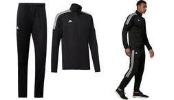 new adidas TEAM SPORTS TRACK SUIT SET black sz S M XL Jacket