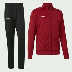 NEW Adidas Track Suit Essentials Basics Black Active Maroon