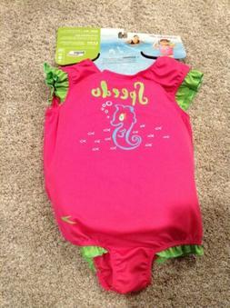 New Speedo UV 50 Flotation Suit For Kids Girl Age 2-4 Size M