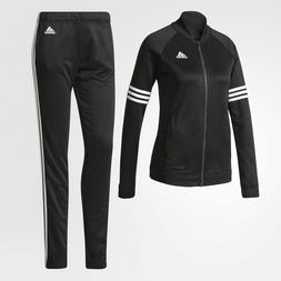 NEW* ADIDAS WOMEN'S BS2621 COZY TRACK SUIT BLACK WHITE JACKE