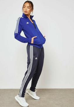 new adidas womens CY3519 tiro tracksuit ink blue white jacke