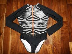 NEW Womens SPEEDO Granatina Black Coral Long Sleeve Zip One