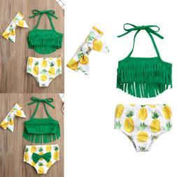 Newborn Baby Girls Pineapple Tassels Swimwear Swimsuit Bathi