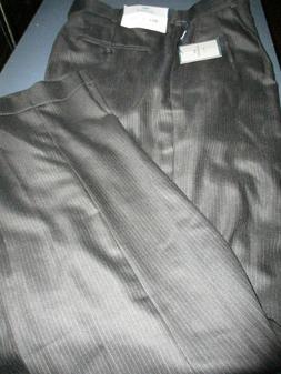 nwt 100 wool blend pleated black pinstripe