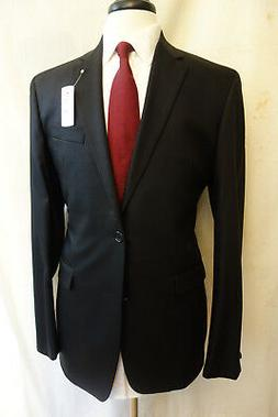 NWT Brooks Brothers 1818 Milano Black Pinstripe Saxxon Wool