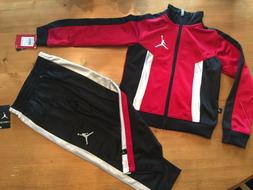 NWT BOYS NIKE AIR JORDAN TRACK SUIT SET JACKET PANTS 4 NWT $