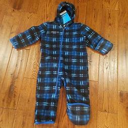 NWT Boy Fireside Cuddle Columbia Snowtop Fleece Bunting Snow