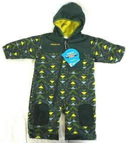 NWT COLUMBIA Infants Baby Green Triangles Hot-Tot Hooded Sno