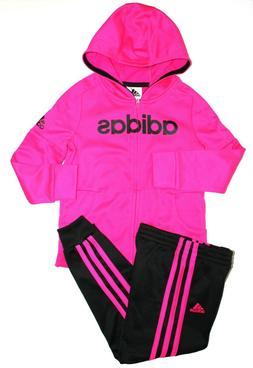 NWT Adidas Kids Boys 2 Piece Set Track Suit Pants & Hoodie N