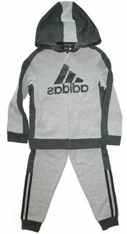 NWT Adidas Kids Boys 2 Piece Set Track Suit Pants & Hoodie D